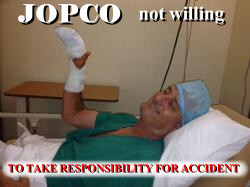 Jopco artículos para Hoteles y Restaurantes not willing to take responsibility for accident
