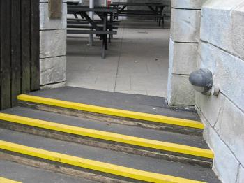 I suggest Jopco and neighbors in Complejo Atica to install stair strips to prevent accidents