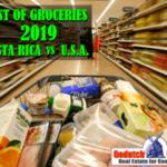 The cost of groceries Costa Rica vs USA 2019